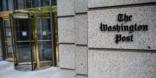 The building of the Washington Post newspaper headquarter is seen on K Street in Washington DC on May 16, 2019. - The Washington Post is a major American daily newspaper published in Washington, D.C., with a particular emphasis on national politics and the federal government. It has the largest circulation in the Washington metropolitan area. (Photo by Eric BARADAT / AFP) (Photo by ERIC BARADAT/AFP via Getty Images)