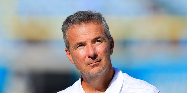 Head coach Urban Meyer of the Jacksonville Jaguars walks off the field following the game against the Tennessee Titans at TIAA Bank Field on Oct. 10, 2021 in Jacksonville, Florida.