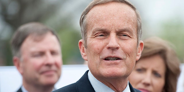 Rep. Todd Akin, R-Mo., speaks during a news conference on the new Health and Human Services Department abortion rule on Wednesday, March 21, 2012. (Photo By Bill Clark/CQ Roll Call)