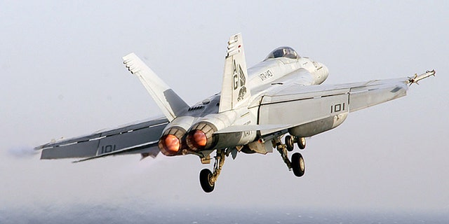 An F/A-18F Super Hornet launches from the flight deck of Nimitz-class aircraft carrier USS Dwight D. Eisenhower March 27, 2007 in the Persian Gulf. (Getty Images)