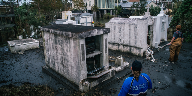Caskets lost in Hurricane Ida