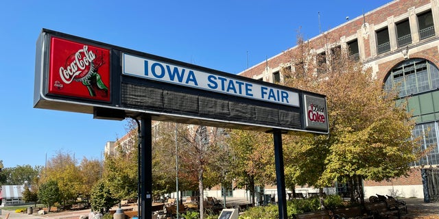The Grandstand at the Iowa State Fairgrounds in Des Moines, Iowa, on Oct. 8, 2021