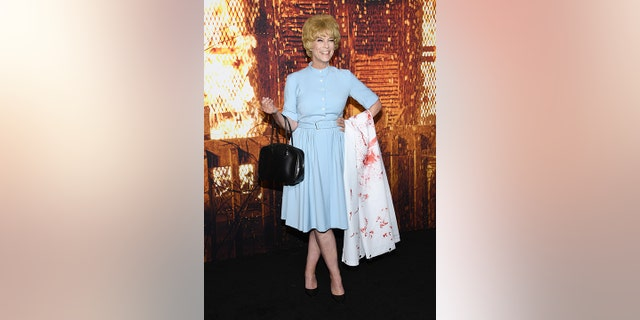 While the outfit was a tribute to her mother, it was Scarlett Johansson's portrayal of Leigh in 'Hitchcock' that taught Curtis that the dress was blue.