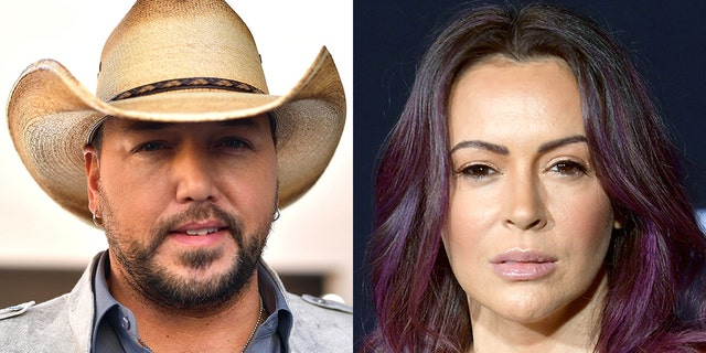 Alyssa Milano took to Instagram on Thursday and posted a news headline that said 'Jason Aldean used to keep his politics private. Now his toddlers are on Instagram wearing anti-Biden T-shirts.'