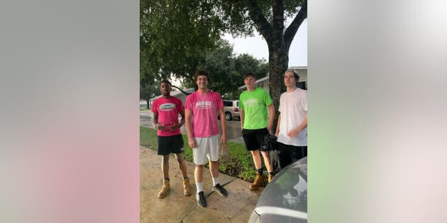 The chivalrous young men work for Rebounderz Adventure Parks, a trampoline park and amusement center.