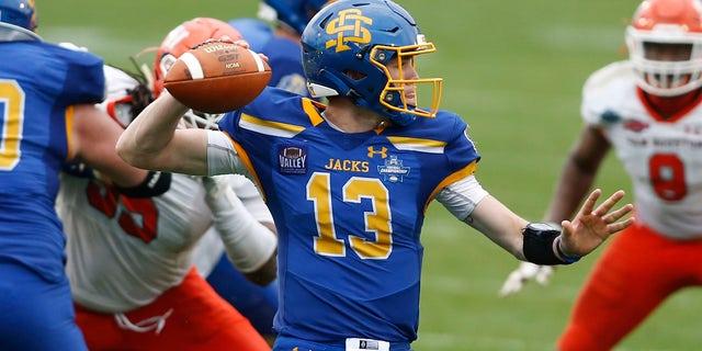 South Dakota State Jackrabbits quarterback Keaton Heide.