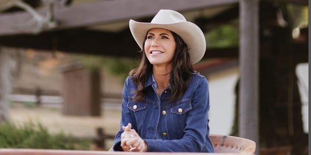 Gov. Kristi Noem at the Reagan Ranch in October 2021.