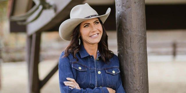 Gov. Kristi Noem at the Reagan Ranch in October 2021