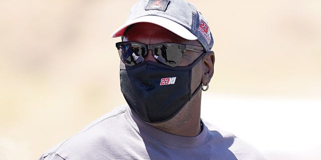 Retired professional basketball player Michael Jordan during the Toyota-Save Mart 350 at Sonoma Raceway in Sonoma, California.