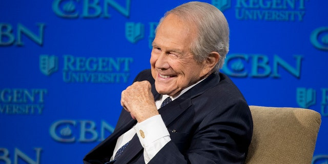 The Christian Broadcasting Network says Rev. Pat Robertson is stepping down as host of the long-running daily television show the '700 Club.' Robertson said in a statement that his last time hosting the network's flagship program was Friday.
