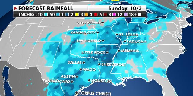 Plains rainfall threat