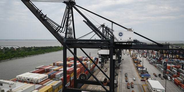 The Port of Houston Bayport Container Terminal in 2019.