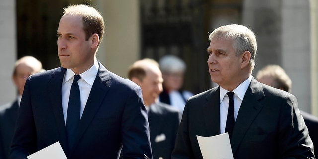 Palace sources have insisted that Prince Andrew (right) won't return to royal duties anytime soon.