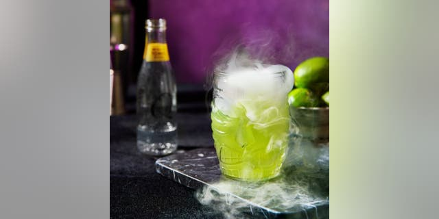 """Q Mixers' """"Frankenlime Collins"""" recipe will have you dancing to the """"Monster Mash"""" in no time."""