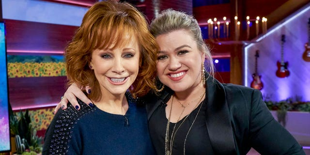 Reba McEntire and Kelly Clarkson on 'The Kelly Clarkson Show.'