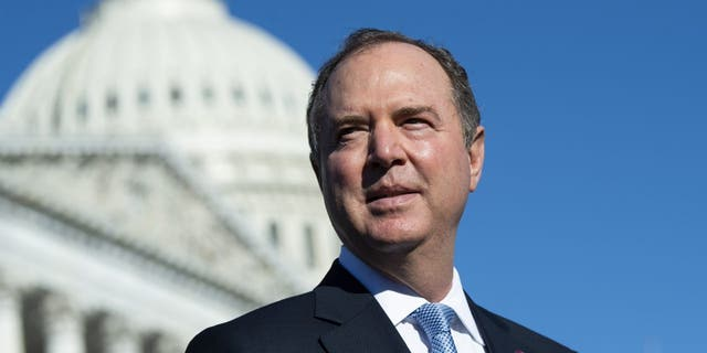 Rep. Adam Schiff, D-Calif., outside the U.S. Capitol on Oct. 20, 2021. (Photo By Tom Williams/CQ-Roll Call, Inc via Getty Images)