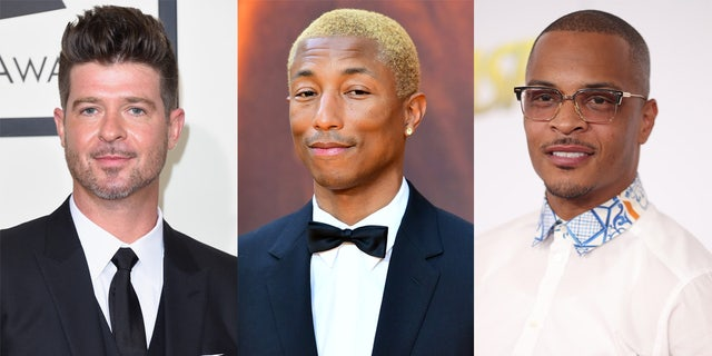 Robin Thicke, Pharrell Williams and TI wrote 'Blurred Lines', all of them linked to the song's controversy.  Marvin Gay was later given credit for the writing.