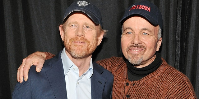 Director Ron Howard and actor Clint Howard today.