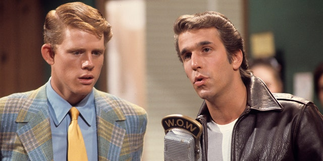 Ron Howard and Henry Winkler starred in 'Happy Days' from 1974 until 1984.