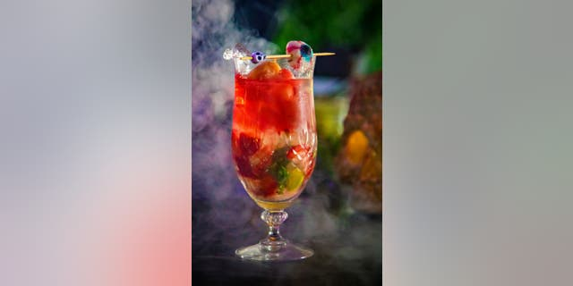 """This chocolate strawberry mojito created by the Sol Mar Cocktail Lounge and Splash Beverage Group will remind you of the frightful ocular scene in """"Final Destination 5."""""""