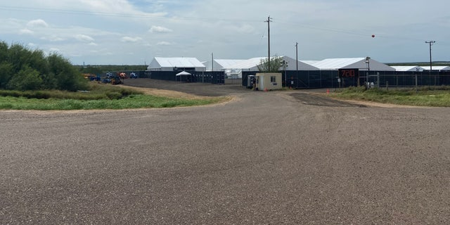 Customs and Border Protection opened a temporary facility in Laredo, Texas, to help process migrants. It is 100,000 square feet. (Ashley Soriano/Fox News)