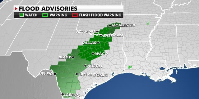 Texas flood advisories