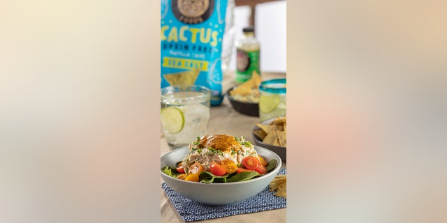 This chicken salad, from Hector Saldivar, founder and owner of Tia Lupita Foods, is perfect for your game day party.