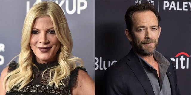 Tori Spelling paid tribute to Luke Perry on Instagram, revealing that the actor 'went to brawl' over her abusive relationship.