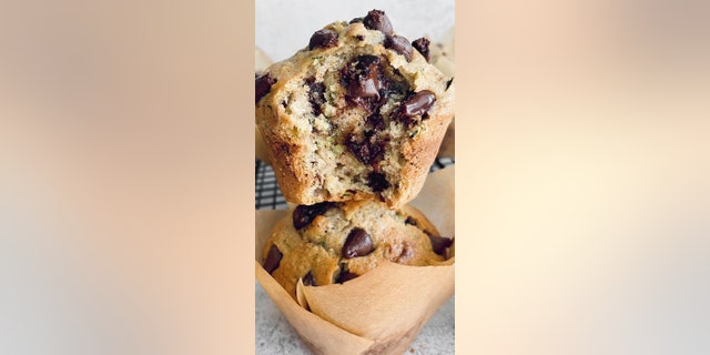 In her blog post, Morgan says these muffins -- packed with zucchini, cinnamon and pecans -- have crunchy tops on the outside, but a moist, flavorful interior with melted chocolate chips.