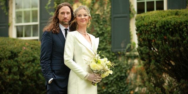 Cuffe Biden Owens (L ) and Meghan King on their wedding day.