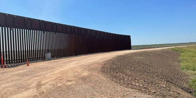 That of the Trump-era border wall remains unfinished after Biden's leadership stopped for it.  (Fox News)
