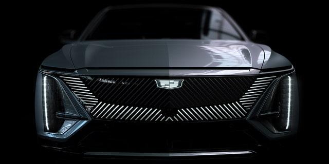 The Lyriq will launch Cadillac's new monochromatic illuminated badge.