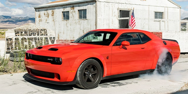 The top of the line 2021 Dodge Challenger SRT Super Stock: has an 807 hp supercharged V8.