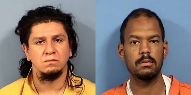 Luis Gomez-Garcia (left) and Christopher Krieg (right) allegedly held a woman at knifepoint while her two young children were inside her car.