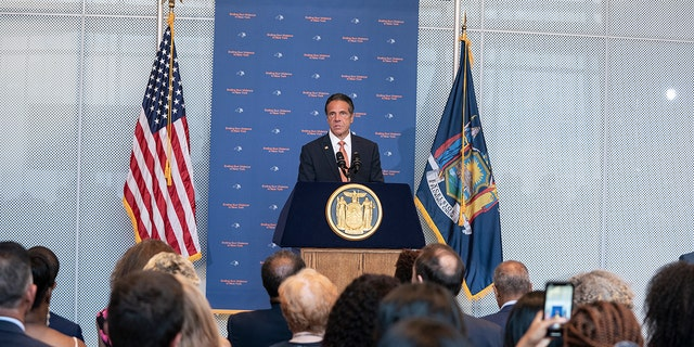 Cuomo speaks about gun violence in the state at John Jay College of Criminal Justice.