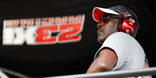 Michael Jordan was in Bubba Wallace's pits during the NASCAR Cup Series Go Bowling at The Glen at Watkins Glen International in August.
