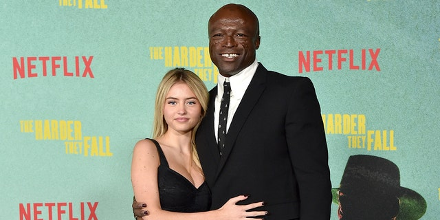 """Leni Olumi Klum and Seal attend the Los Angeles Premiere of """"The Harder They Fall."""""""