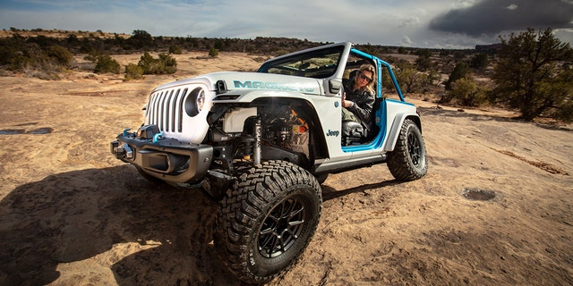 The Wrangler Magneto was revealed at the 2021 Easter Jeep Safari.