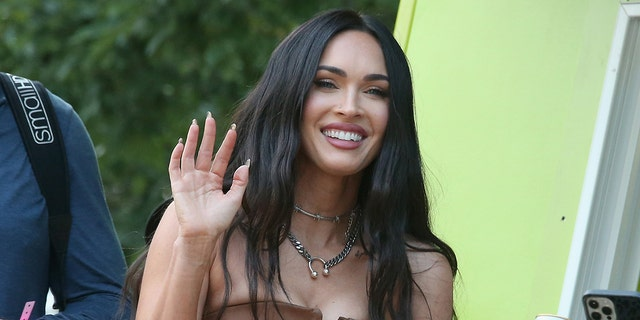 Megan Fox is known for her long, dark hair.