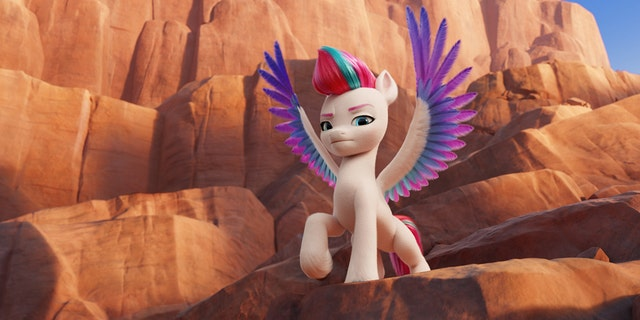 """""""My Little Pony: A New Generation"""" includes ZIPP, voiced by Liza Koshy. (Cr: © 2021 Hasbro, Inc. All Rights Reserved.)"""