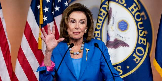 House Speaker Nancy Pelosi of Calif. speaks during her weekly press briefing on Capitol Hill, Thursday, Sept. 30, 2021, in Washington.