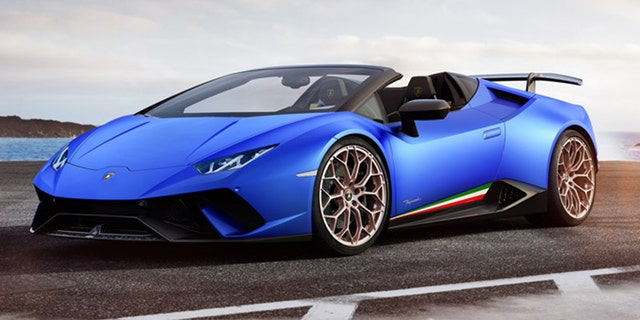 The Lamborghini Huracan Performante Spyder costs approximately $300,000.