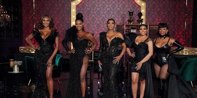 Pictured: (l-r) Cynthia Bailey, Kenya Moore, Porsha Williams, Drew Sidora, Kandi Burruss of 'The Real Housewives of Atlanta.'