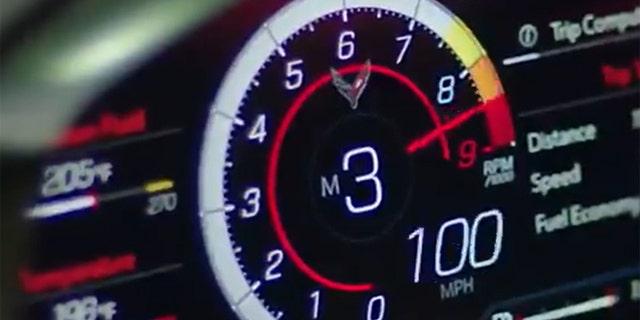La línea roja del V8 del Z06 parece estar puesta a 8.600 rpm.
