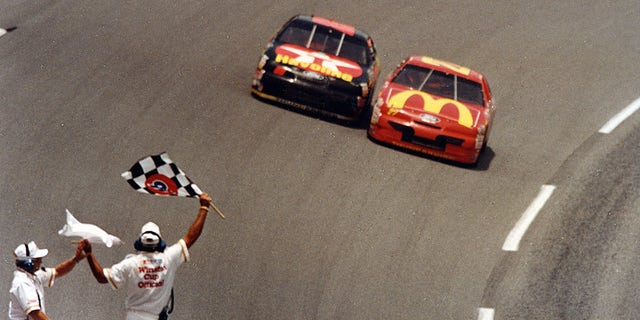 Jimmy Spencer beat Ernie Irvan by just .008 of a second to win the 1994 Pepsi 400 at Daytona.