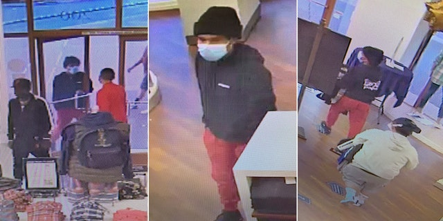 The three male suspects made off with an unknown amount of merchandise.