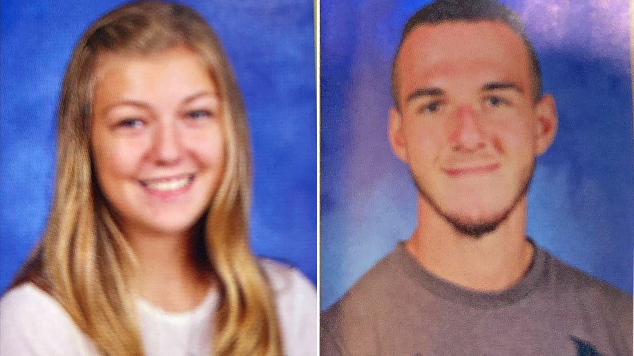 Gabby Petito in her sophomore year and Brian Laundrie as a junior at Bayport-Blue Point High School in New York