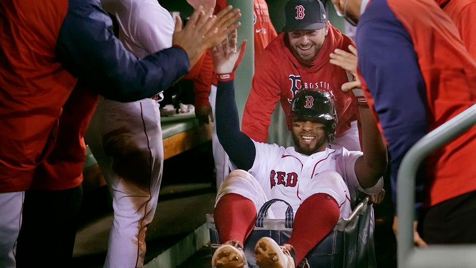 Red Sox ride home run laundry cart to ALCS against Astros