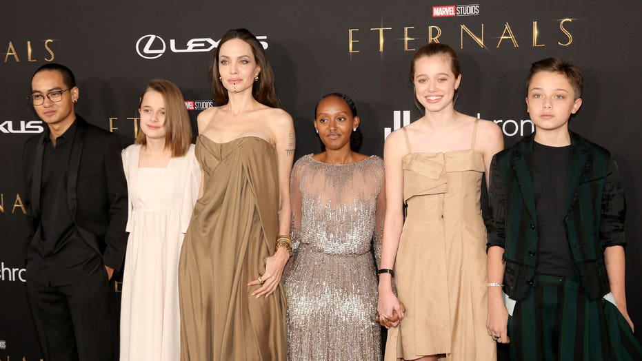 Angelina Jolie's kids are all grown up, wear her old dresses on 'Eternals' red carpet