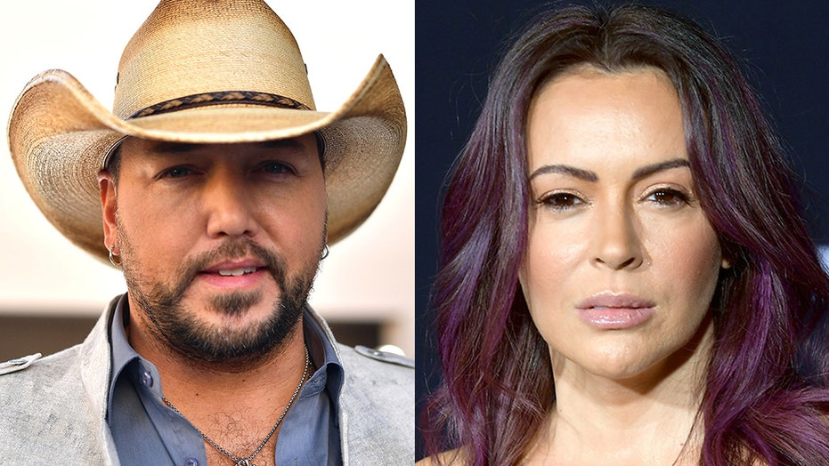 Alyssa Milano slams Jason Aldean's political openness after wife catches heat for anti-Biden shirts